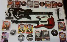 Nintendo Wii GUITAR HERO MEGA BUNDLE: 2 x Guitars + Microphone + 7 GAMES-nm-mint