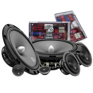 """Massive Audio FC6.3 3-Way 600 Watt 6.5"""" + 3"""" Component Speakers Tweeters Grilles"""
