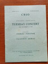 Claudio Arrau & Wilfred Lehmann Signed CBSO Program 1958