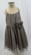 H&M baby girls 2-3yrs GREY POLKA DOT TULLE special occasion dress