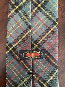 H Stockton Green Plaid Tie