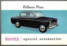 Hillman Minx Series IIIA & IIB Accessories 1959-61 UK Market Foldout Brochure