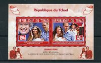 Chad Tchad 2013 MNH Birth Prince George Royal Baby 2v M/S William & Kate