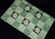 New listing Amy Coe Green Brown Mod Elephant Baby Blanket Squares Lovey