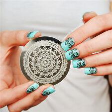 Nail Art Stamp Stamping pochoir Template Image Plate plaque  Fleur #Qgirl-030