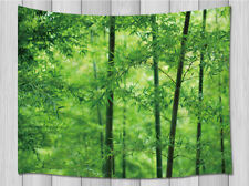 Green bamboo forest Tapestry Wall Hanging for Living Room Bedroom Dorm Decor