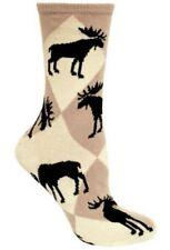 WILD MOOSE IN THE WOODS! Wheel House Tan Socks~M~Great Gift! Spring Sale Price!