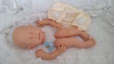 """Kit Muñeca Reborn Bebé """"Elsa"""" extremidad completa + Discos 20 in (approx. 50.80 cm) cuerpo articulado Inc Azul Maniquí"""