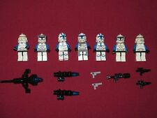 LEGO Star Wars minifigure LOT Captain Rex,501st Legion Clone Troopers & weapons