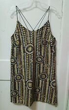 Women AKIRA CHICAGO Black Label Festival Fever Sequin Party Dress Size Large L
