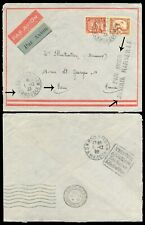CAMBODIA INDO - CHINE 1933 AIRMAIL COVER TO FRANCE