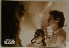 2019 Topps Star War BLACK WHITE LEIA HAN ORANGE PARALLEL Empire Strike Back 1/5