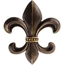 "12"" Bronze Polystone Fleur-De-Lis. A sophistication and elegant Home Decor"
