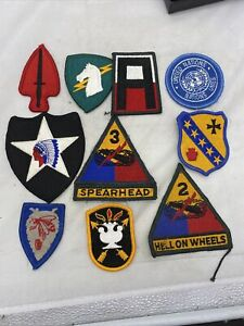 Lot Of 10 US Army Merrowed Edge Patches (VB183