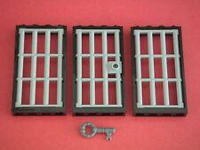 Lego - Porte & fenêtres à barreaux 1x4x6 + clef neuves