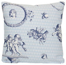 Blue White Cushion Cover Pierre Frey Fabric French Toile de Jouy Printed Cotton