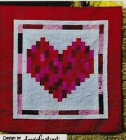 "I Heart You -  pieced quilt PATTERN for 2.5"" strips- Cozy Quilt Designs"