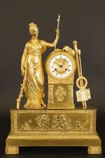 Pendule bronze doré époque Empire