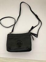 Mimco Secret Couch Black Matte Clutch bag with shoulder strap