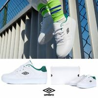 UMBRO Green Forest Athletic Sneaker Shoes White Green GSz 220-280mm U8123LCU12