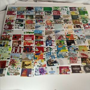 Starbucks Gift Card Lot used  Gift Cards 150 Cards