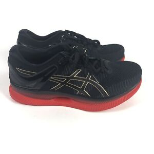 ASICS MetaRide Running Shoes Women's Size 10 Black Classic Red 1012A130