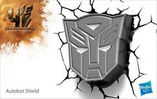 Transformers ~ AUTOBOT Shield Symbol 3D FX Deco Wall LED Night Light Nightlight