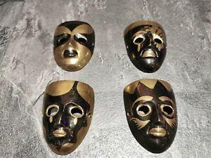 4 Metal Mascrade Wall Masks