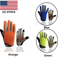 Kids Bicycle Gloves Youth Girls Boys Child Cycling Bike Riding Full Finger Grip
