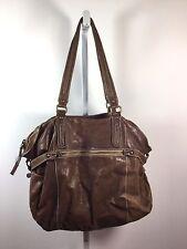 7 FOR ALL MANKIND Brown Leather Large Shoulder Tote Handbag
