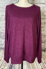 Buffalo Sweater Wine Pullover Soft DEFECT Womens L