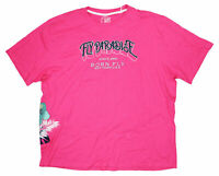 Born Fly Mens T-Shirt Pink Small S Embroidered Paradise Graphic Tee $38 #086