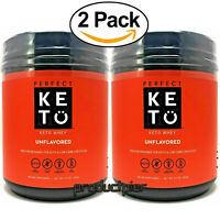 X2 Perfect Keto Unflavored Whey Protein Powder Isolate W/ MCT Powder 100% Grass