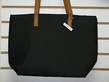 Perfumania Black Tote Hand Bag Medium Travel Party Handbag 12 x 5 x 12 NEW