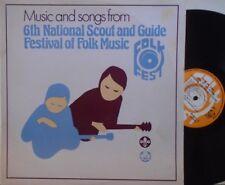 6TH NAZIONALE SCOUT & GUIDE Festival Di Musica Folk ~ VINILE LP