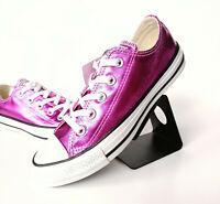 Converse Chuck Taylor All Star Metallic OX Sneaker Damen Lila Glitzer 155561C