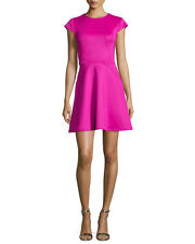 "TED BAKER ""EEBRR' CAP-SLEEVE SEAMED SKATER FIT & FLARE DRESS sz 3/ US 6"
