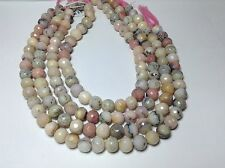 PINK PERUVIAN OPAL FACETED ROUND BEADS 11-12  MM  14""