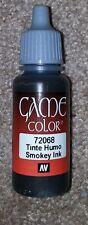 Vallejo Paint Game Color Smokey Ink 72068 Eye Dropper Bottle 17ml