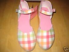 NWT Gymboree Spring Rainbow Plaid Espadrille Sandals, Girls Shoes sz 13 US