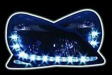 Vauxhall Corsa D Black R8 Style DRL LED Projector Headlights