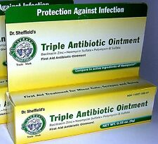 Dr.Sheffields Triple Antibiotic Ointment First Aid Ointment Compare to Neosporin