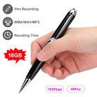 16GB Digital Audio Sound Voice Recorder Dictaphone MP3 Player USB Recording Pen