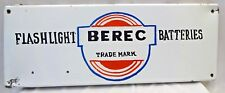BEREC FLASHLIGHT BATTERIES SIGN VINTAGE PORCELAIN ENAMEL COLLECTIBLES ADVERTISE