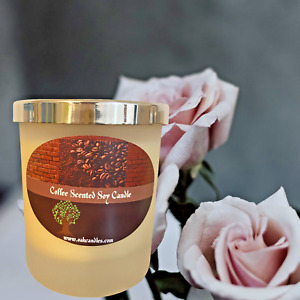 Soy Jar Scented Roasted Coffee Candle High Quality Vegan Organic Gift