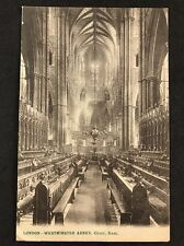 RP Vintage Postcard - London #W16 - Westminster Abbey - Stereoscopic Co - 1927