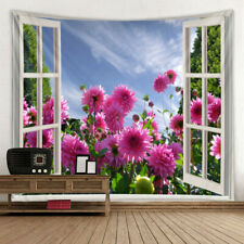 Flower Country Scenery Print Tapestry Bedroom Wall Hanging Tapestry Art Decor