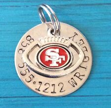NFL Custom Dog Cat Pet ID Tag, SF 49ers Your Pets Name & #