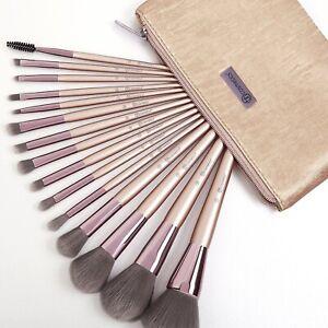 AUTHENTIC BH Cosmetics LAVISH ELEGANCE 15 Piece Brush Set + Case BNIB