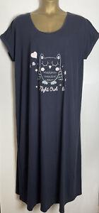 Evans Sample Navy Cotton Jersey Nightdress Size 22/24